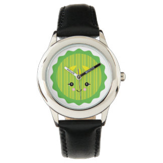 cute kawaii pickle slice wristwatches