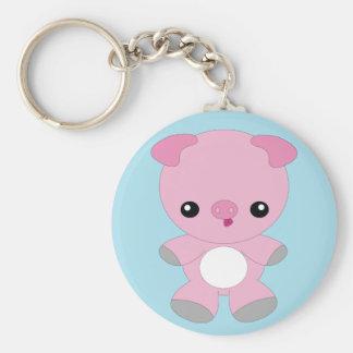 Cute kawaii pig keychain