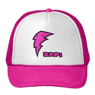 Cute Kawaii Pink and Black Zap Lighting Bolt Trucker Hat