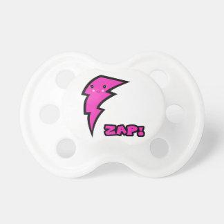 Cute Kawaii Pink and Black Zap Lighting Bolt Pacifier