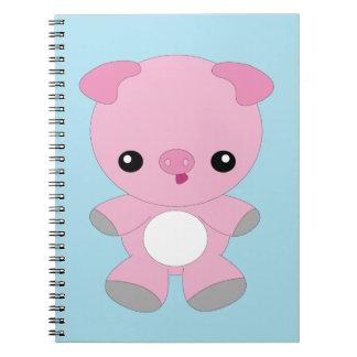 Cute kawaii pink baby pig notebook