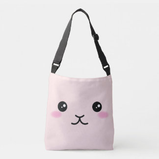 Cute, kawaii, pink bunny design crossbody bag