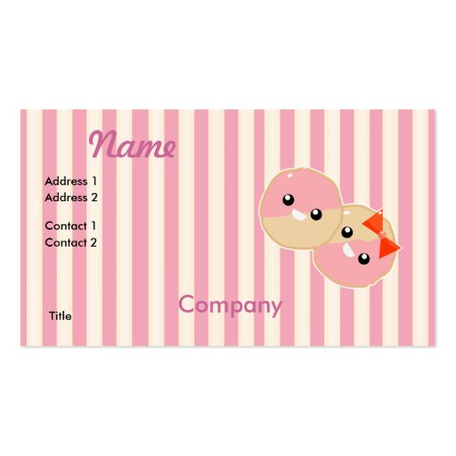 Cute Kawaii Business Card Templates Page6 Bizcardstudio