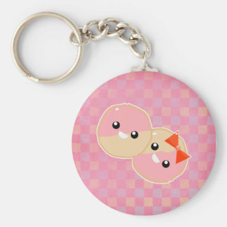 Cute Kawaii Pink Frosted Cookies Basic Round Button Keychain