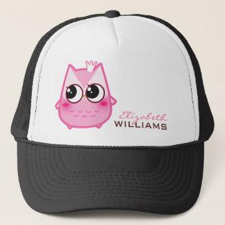 Cute kawaii pink owl - Personalized Trucker Hat