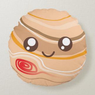 Cute Kawaii Planet Jupiter Round Pillow
