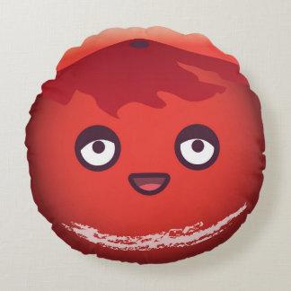 Cute Kawaii Planet Mars Round Pillow