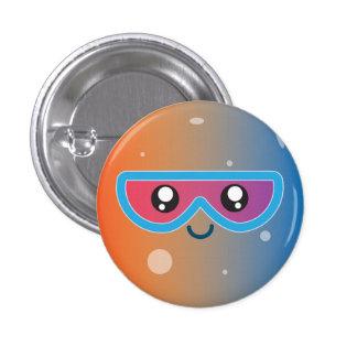 Cute Kawaii Planet Mercury Character 1 Inch Round Button