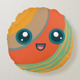 Cute Kawaii Planet Saturn Round Pillow