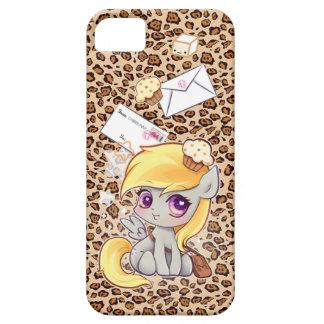 Cute kawaii postman pony on leopard print iPhone 5 cases