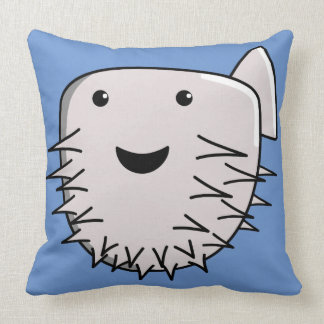 Cute Kawaii Puffer Fish Throw Pillow