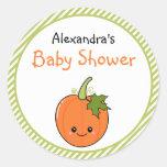 Cute Kawaii Pumpkin Baby Shower Sticker