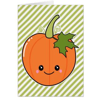 Cute Kawaii Pumpkin Cards