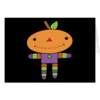 Cute kawaii Pumpkin Card