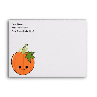 Cute Kawaii Pumpkin Envelopes