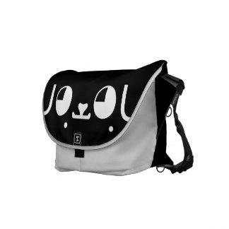 Cute Kawaii Puppy Dog Japanese Kaomoji Emoticon Courier Bag