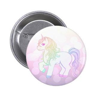 Cute kawaii rainbow colored unicorn pony pins