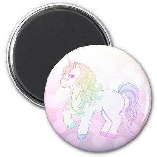 Cute kawaii rainbow colored unicorn pony magnet