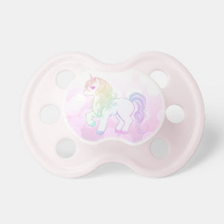 Cute kawaii rainbow colored unicorn pony pacifier