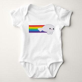 Cute Kawaii Rainbow Rocket Baby Seal Creeper