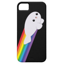 Cute Kawaii Rainbow Rocket Baby Seal iPhone 5 Case