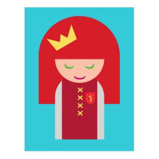 Cute Kawaii Redheaded Warrior Queen Postcard