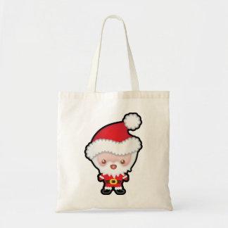 Cute Kawaii Santa Claus Christmas Tote Bag