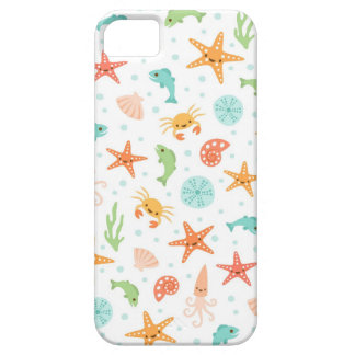 Cute kawaii sea life starfish squid crab pattern iPhone SE/5/5s case