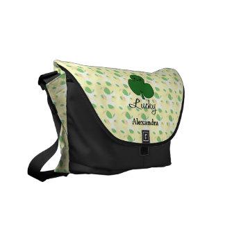 Cute Kawaii Shamrock Messenger Bag