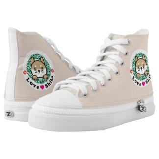 Cute Kawaii Shiba Printed Shoes かわいい柴犬イラスト入りシューズ