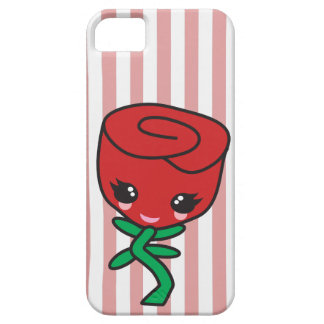cute kawaii single red rose cartoon character iPhone SE/5/5s case