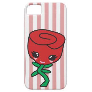 cute kawaii single red rose cartoon character iPhone SE/5/5s case