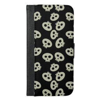 Cute Kawaii Skulls iPhone 6 Plus Wallet Case