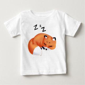 Cute Kawaii Sleeping cartoon fox Baby T-Shirt