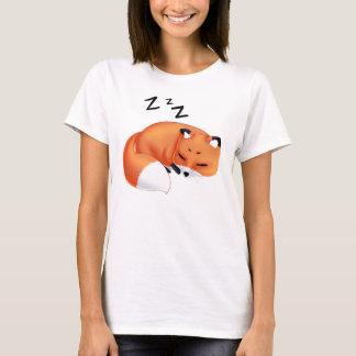 Cute Kawaii Sleeping cartoon fox T-Shirt
