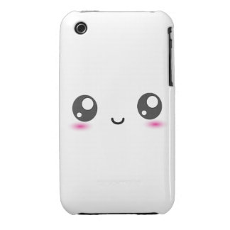 Cute Kawaii Smiley iPhone 3 Cover