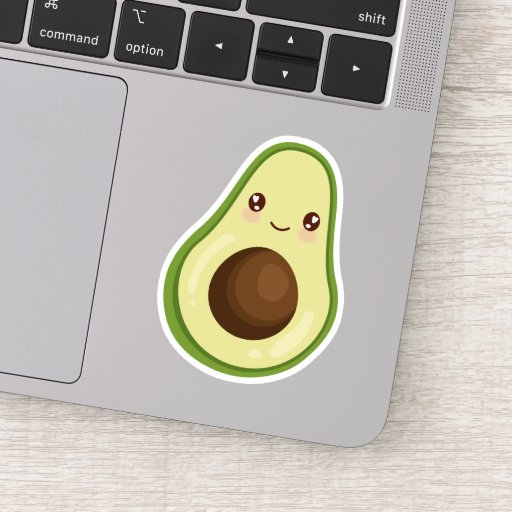 Cute Kawaii Smiling Avocado Sticker