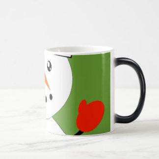 Cute Kawaii Snowman Magic Mug