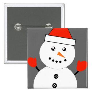 Cute Kawaii Snowman Pinback Button