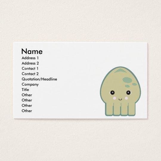 cute kawaii squid business card