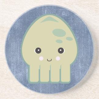 cute kawaii squid coasters