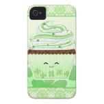 Cute kawaii St Patricks day cupcake Case-Mate iPhone 4 Case