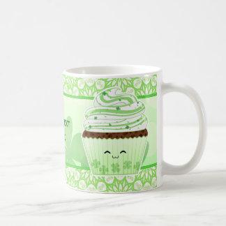 Cute kawaii St Patricks day cupcake Classic White Coffee Mug