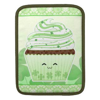Cute kawaii St Patricks day cupcake Sleeves For iPads