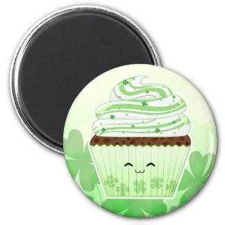 Cute kawaii St Patricks day cupcake Fridge Magnet
