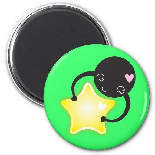 Cute Kawaii star mite Fridge Magnet