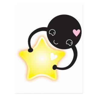 Cute Kawaii star mite Postcard