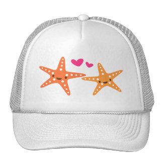 Cute kawaii starfish love cartoon hat