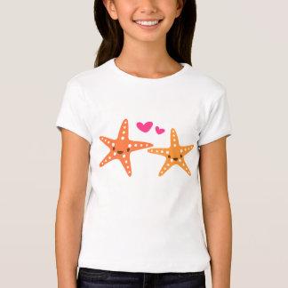 Cute kawaii starfish love cartoon tee for girls