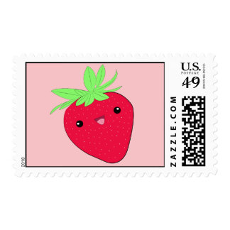 Cute kawaii strawberry stamps